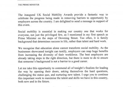 UKSMA Letter from PM